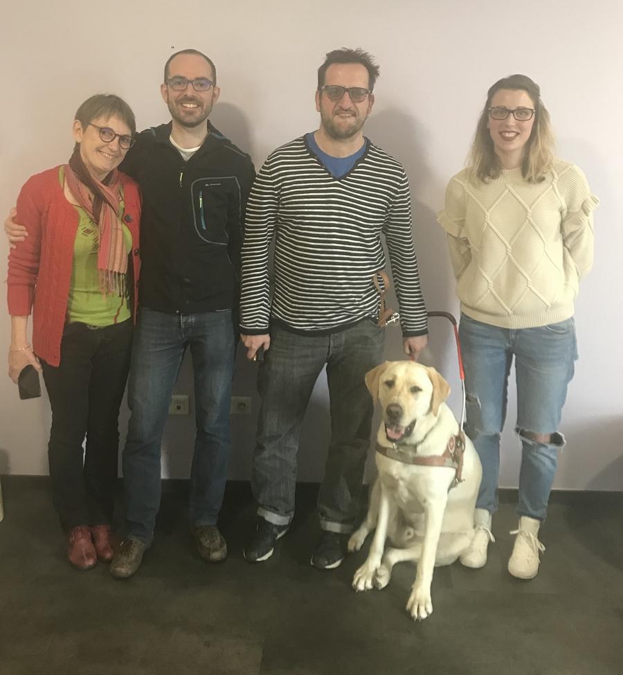 2 nouvelles équipes maître déficient visuel/chien guide
