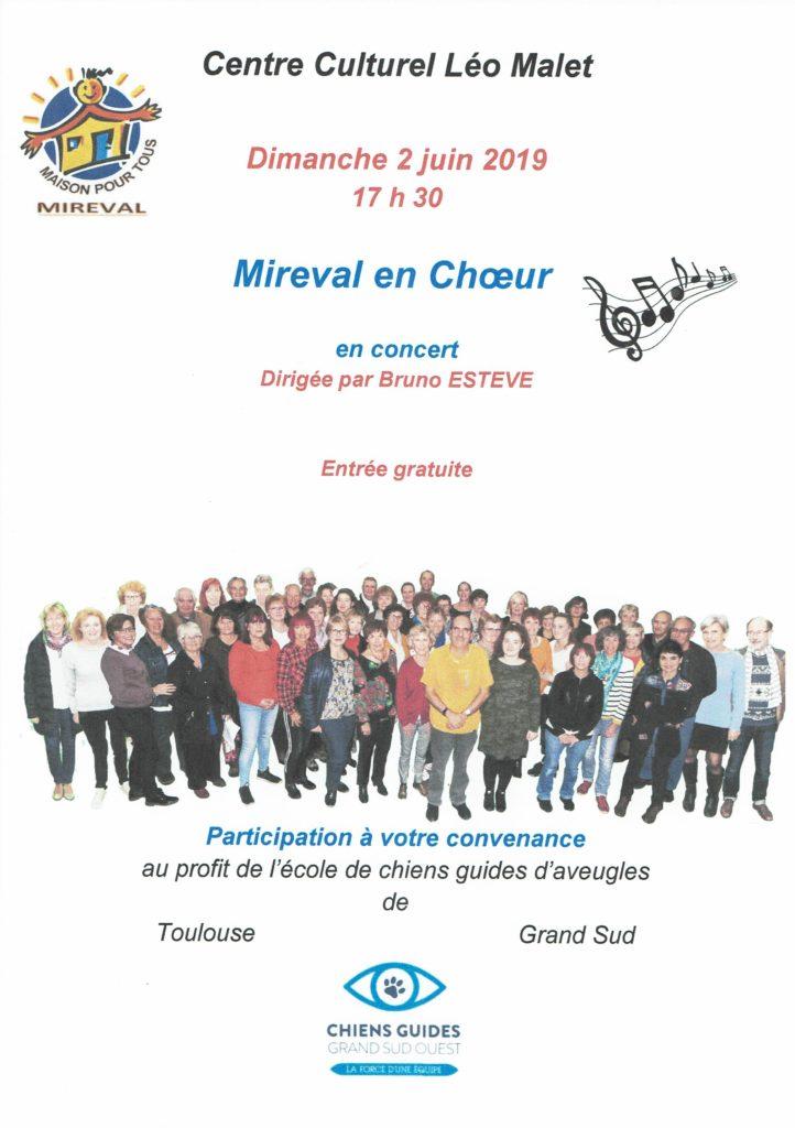 affiche de la soirée avec les informations utiles que vous retrouverez dans l'article : lieu, horaire et photo des membres de la chorale
