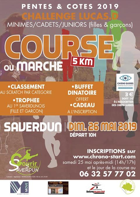 Affiche de la manifestation contenant les informations sur la course (que vous retrouvez dans le texte de l'article)