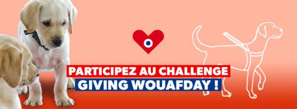 Bandeau du GivingWouafDay avec 2 petits chiots