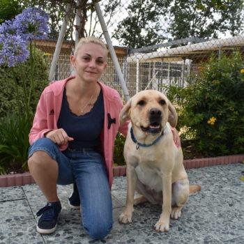 photo de Margot avec un chien guide